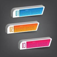 modelo de caixa de texto moderno, infográficos de banner vetor