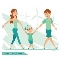 design de personagens familiares vetor