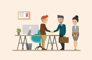 reunião de negócios. ambiente de trabalho compartilhado vetor