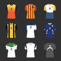 uniforme de futebol realista de vetor de um time