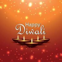 cartão comemorativo feliz diwali com ilustração vetorial criativa vetor