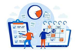 conceito de design de web de planejamento de negócios com pessoas vetor