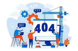 Conceito de erro de página 404 com personagens de pessoas vetor