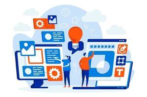 designers equipe conceito web com pessoas vetor