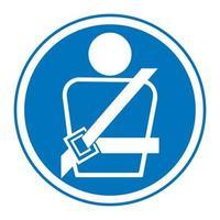 usando cinto de segurança símbolo símbolo vetor