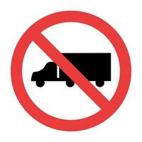 nenhum caminhão sinaliza no fundo branco vetor