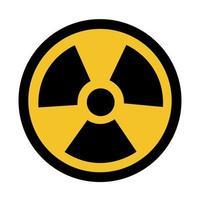 sinal de símbolo de perigo de radiação vetor