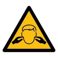 sinal de símbolo de ruído vetor