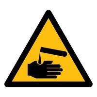 Cuidado com o símbolo de corrosivos vetor