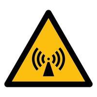 cuidado com o símbolo do símbolo de radiação não ionizante vetor