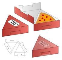 embalagem de caixa de pizza corrugada recortada com mock up vetor