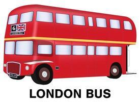 vetor de ônibus de Londres em fundo branco