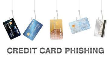 vetor de cartão de crédito de phishing real pesca