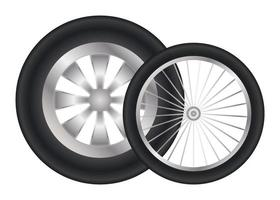 rodas de carro isoladas vetor
