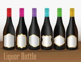 garrafas de licor isoladas vetor