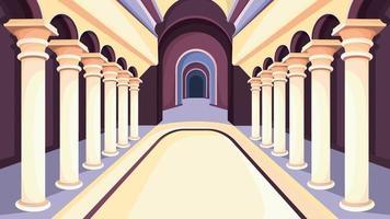 interior do castelo à luz do dia. vetor