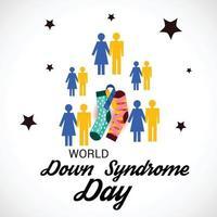 ilustração em vetor de um plano de fundo para o dia mundial da síndrome de down.