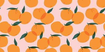 padrão sem emenda de vetor com tangerinas
