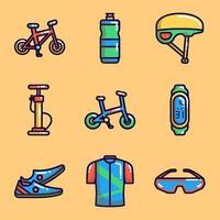 coleções de ícones de atividades de bicicleta vetor