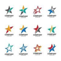 coleção de elementos do logotipo da estrela vetor