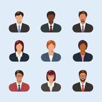 coleção de avatares de empresários vetor
