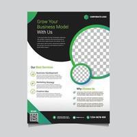 modelo de folheto empresarial verde moderno vetor