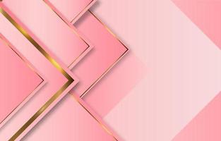 luxo rosa fundo gradiente ouro rosa vetor