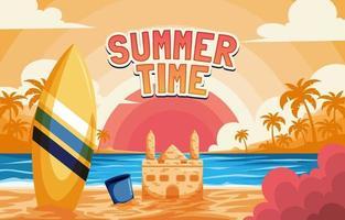 verão verão fundo de praia vetor