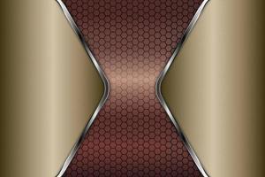 metálico de ouro e prata com textura de polígono. vetor
