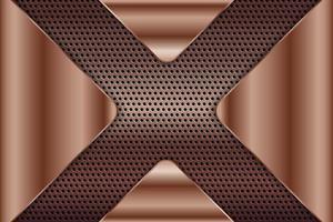 fundo metálico com textura de cobre perfurada. vetor