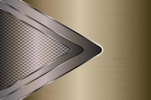 fundo metálico dourado com padrão de hexágono. vetor