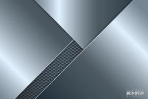 fundo de metal azul com padrão de hexágono. vetor