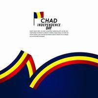 ilustração de design de modelo vetorial celebração do dia da independência do Chade vetor