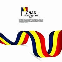 ilustração do design do modelo do vetor para a celebração do dia da independência do Chade