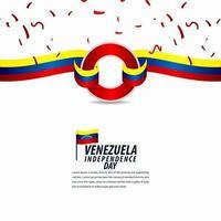 feliz celebração do dia da independência da venezuela, faixa de opções, ilustração de design de modelo de cartaz vetor