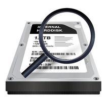 disco rígido interno com digitalização de lupa vetor