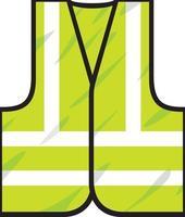 design de cor do colete de segurança vetor