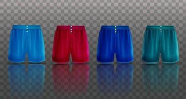 conjunto de boxers masculinos ilustração do objeto 3d vetor