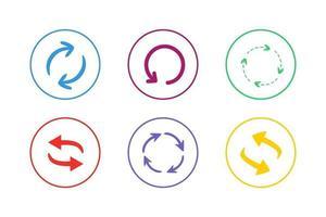 conjunto de ícones coloridos de atualização vetor
