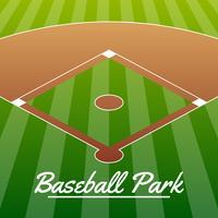 Ilustração do estádio de campo de beisebol vetor
