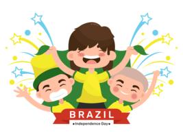 Vetor do dia da independência do Brasil