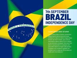 Vetores únicos dos elementos do Dia da Independência do Brasil