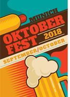 Folheto Oktoberfest vetor