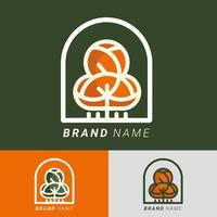 Vetor de elementos de logotipo de árvore