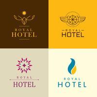 identidade corporativa do hotel de luxo vetor