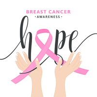 Conceito de vetor de fita de conscientização de câncer de mama rosa