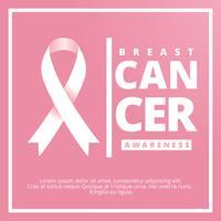Fita de conscientização do câncer de mama vetor