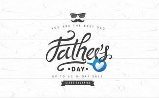 fundo do banner de venda do dia dos pais vetor