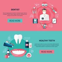 banners horizontais de odontologia vetor