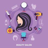 composição colorida de cabeleireiro vetor